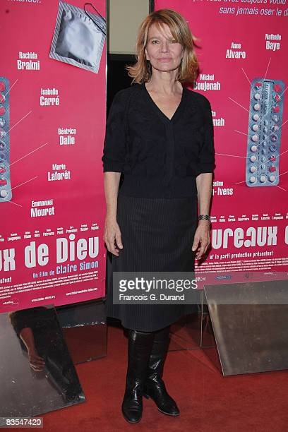 Actress Nicole Garcia attends the 'Les Bureaux de Dieu' Paris Premiere at the UGC les Halles on November 3 2008 in Paris France