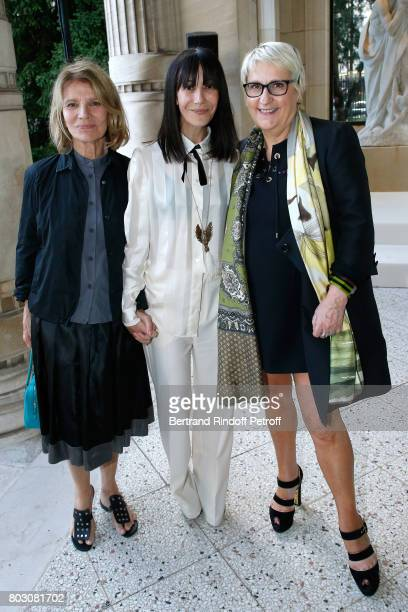 Actress Nicole Garcia Bouchra Jarrar and Executive Director of 'Havas Worldwide' Mercedes Erra attend Artistic Director of Lanvin Bouchra Jarrar is...