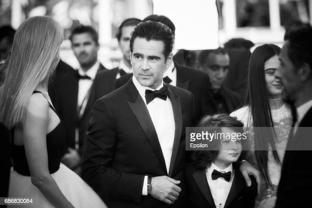 Actress Nicole Kidman actor Colin Farrell actor Sunny Suljic attend the 'The Killing Of A Sacred Deer' screening during the 70th annual Cannes Film...