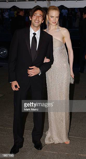 Actress Nicole Kidman and an unidentified man arrive for 'Goddess Costume Institute Benefit Gala' at the Metropolitan Museum of Art April 28 2003 in...