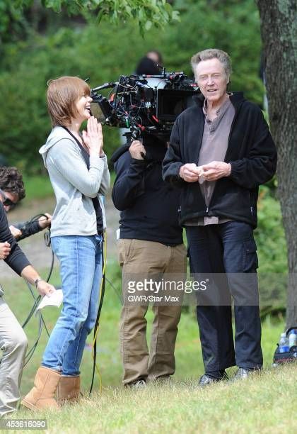 Actress Nicole Kidman and Christopher Walken are seen on the set of 'The Family Fang' in Harriman Park on August 14 2014 in Upstate New York