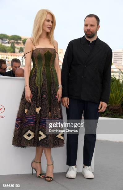 Actress Nicole Kidman and director Yorgos Lanthimos attend the 'The Killing Of A Sacred Deer' photocall during the 70th annual Cannes Film Festival...