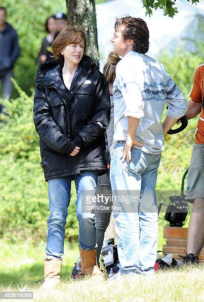 Actress Nicole Kidman and Jason Bateman are seen on the set of 'The Family Fang' in Harriman Park on August 14 2014 in Upstate New York