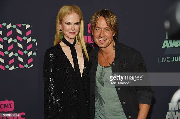 Actress Nicole Kidman and musician Keith Urban attend the 2016 CMT Music awards at the Bridgestone Arena on June 8 2016 in Nashville Tennessee