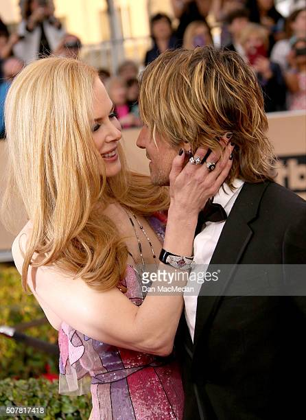 Actress Nicole Kidman and musician Keith Urban attend the 22nd Annual Screen Actors Guild Awards at The Shrine Auditorium on January 30 2016 in Los...