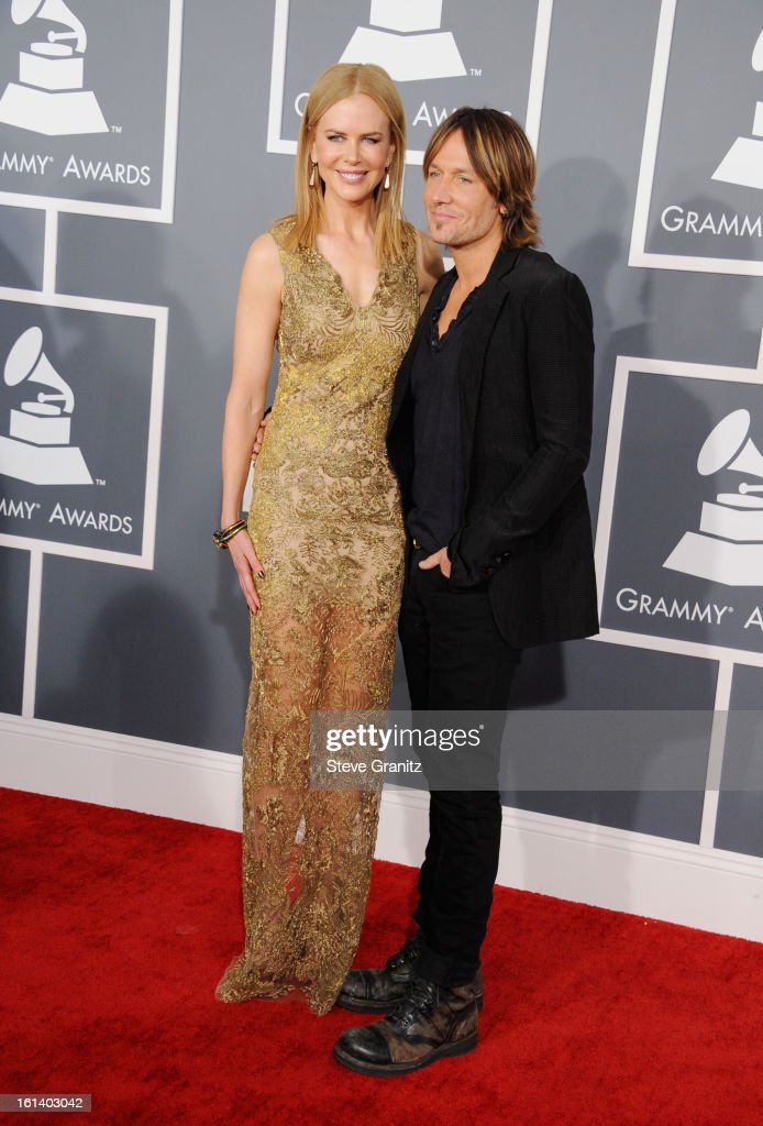 Actress Nicole Kidman and musician Keith Urban attend the 55th Annual GRAMMY Awards at STAPLES Center on February 10, 2013 in Los Angeles, California.