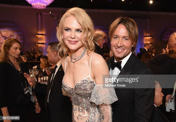 Actress Nicole Kidman and musician Keith Urban attend the 74th Annual Golden Globe Awards at The Beverly Hilton Hotel on January 8 2017 in Beverly...