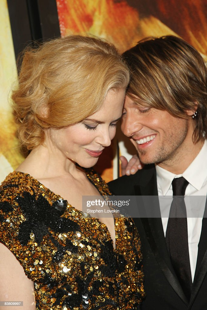Actress <a gi-track='captionPersonalityLinkClicked' href=/galleries/search?phrase=Nicole+Kidman&family=editorial&specificpeople=156404 ng-click='$event.stopPropagation()'>Nicole Kidman</a> and musician Keith Urban attend the premiere of 'Australia' at the Ziegfeld Theater on November 24, 2008 in New York City.