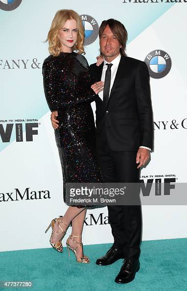 Actress Nicole Kidman and musician Keith Urban attend the Women in Film 2015 Crystal Lucy Awards at the Hyatt Regency Century Plaza Hotel on June 16...