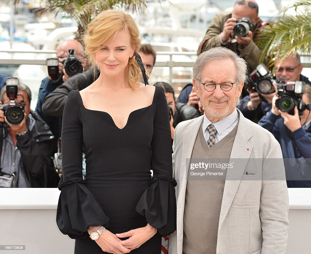 Actress <a gi-track='captionPersonalityLinkClicked' href=/galleries/search?phrase=Nicole+Kidman&family=editorial&specificpeople=156404 ng-click='$event.stopPropagation()'>Nicole Kidman</a> and President of the Jury, director <a gi-track='captionPersonalityLinkClicked' href=/galleries/search?phrase=Steven+Spielberg&family=editorial&specificpeople=202022 ng-click='$event.stopPropagation()'>Steven Spielberg</a> attend the Jury Photocall at The 66th Annual Cannes Film Festival>> on May 15, 2013 in Cannes, France.