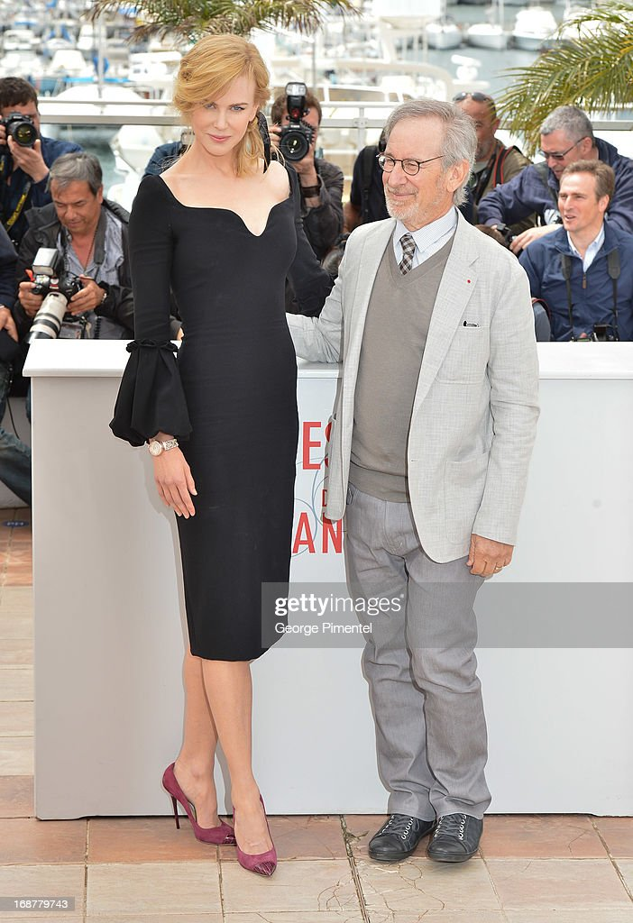 Actress Nicole Kidman and President of the Jury, director Steven Spielberg attend the Jury Photocall at The 66th Annual Cannes Film Festival on May 15, 2013 in Cannes, France.