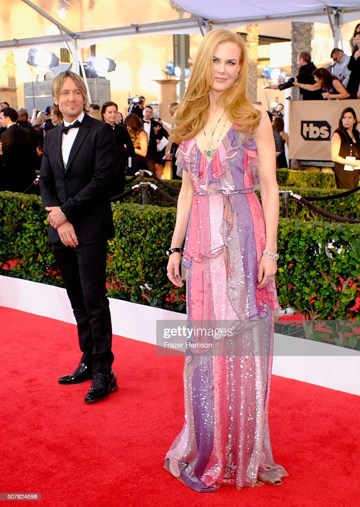 Actress Nicole Kidman and recording artist keith Urban arrives at the 22nd Annual Screen Actors Guild Awards at The Shrine Auditorium on January 30, 2016 in Los Angeles, California 22nd Annual Screen Actors Guild Awards at The Shrine Auditorium on January 30, 2016 in Los Angeles, California.
