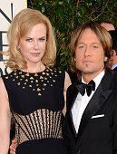 Actress Nicole Kidman and singer Keith Urban arrive at the 70th Annual Golden Globe Awards held at The Beverly Hilton Hotel on January 13 2013 in...