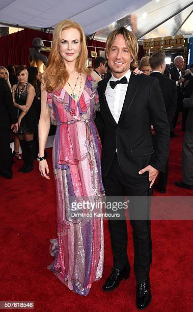 Actress Nicole Kidman and singer Keith Urban attend The 22nd Annual Screen Actors Guild Awards at The Shrine Auditorium on January 30 2016 in Los...