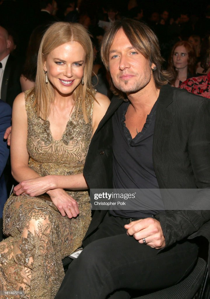 Actress <a gi-track='captionPersonalityLinkClicked' href=/galleries/search?phrase=Nicole+Kidman&family=editorial&specificpeople=156404 ng-click='$event.stopPropagation()'>Nicole Kidman</a> (L) and singer <a gi-track='captionPersonalityLinkClicked' href=/galleries/search?phrase=Keith+Urban&family=editorial&specificpeople=202997 ng-click='$event.stopPropagation()'>Keith Urban</a> attend the 55th Annual GRAMMY Awards at STAPLES Center on February 10, 2013 in Los Angeles, California.