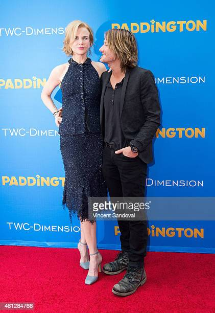 Actress Nicole Kidman and singer Keith Urban attend the Los Angeles premiere of 'Paddington' at TCL Chinese Theatre IMAX on January 10 2015 in...