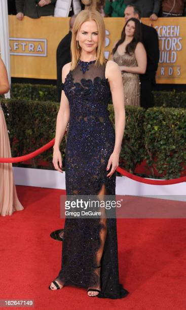Actress Nicole Kidman arrives at the 19th Annual Screen Actors Guild Awards at The Shrine Auditorium on January 27 2013 in Los Angeles California