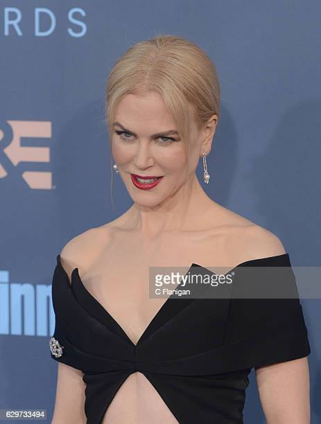 Actress Nicole Kidman arrives at The 22nd Annual Critics' Choice Awards at Barker Hangar on December 11 2016 in Santa Monica California
