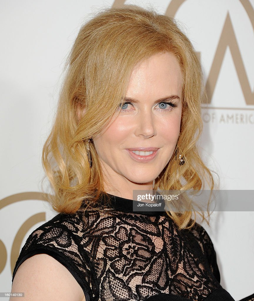 Actress <a gi-track='captionPersonalityLinkClicked' href=/galleries/search?phrase=Nicole+Kidman&family=editorial&specificpeople=156404 ng-click='$event.stopPropagation()'>Nicole Kidman</a> arrives at the 24th Annual Producers Guild Awards at The Beverly Hilton Hotel on January 26, 2013 in Beverly Hills, California.