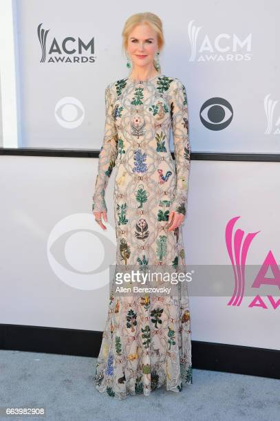 Actress Nicole Kidman arrives at the 52nd Academy Of Country Music Awards on April 2 2017 in Las Vegas Nevada