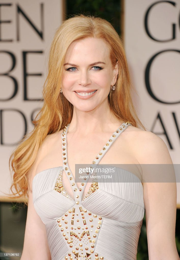 Actress <a gi-track='captionPersonalityLinkClicked' href=/galleries/search?phrase=Nicole+Kidman&family=editorial&specificpeople=156404 ng-click='$event.stopPropagation()'>Nicole Kidman</a> arrives at the 69th Annual Golden Globe Awards held at the Beverly Hilton Hotel on January 15, 2012 in Beverly Hills, California.