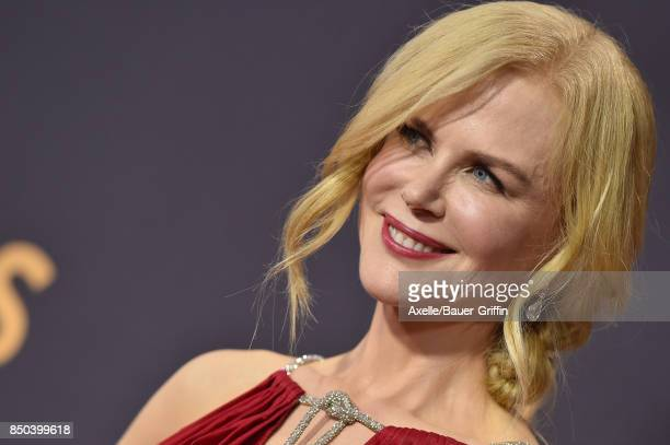 Actress Nicole Kidman arrives at the 69th Annual Primetime Emmy Awards at Microsoft Theater on September 17 2017 in Los Angeles California