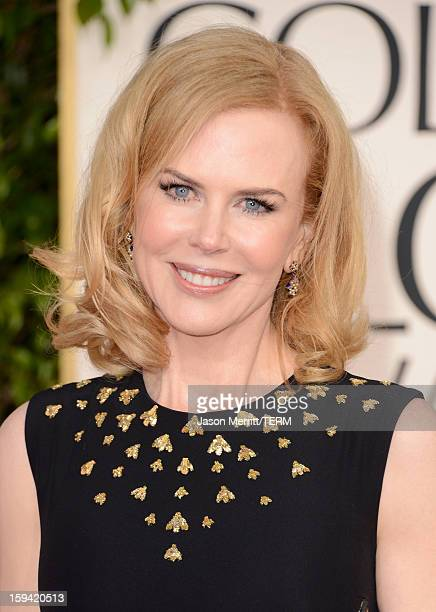 Actress Nicole Kidman arrives at the 70th Annual Golden Globe Awards held at The Beverly Hilton Hotel on January 13 2013 in Beverly Hills California