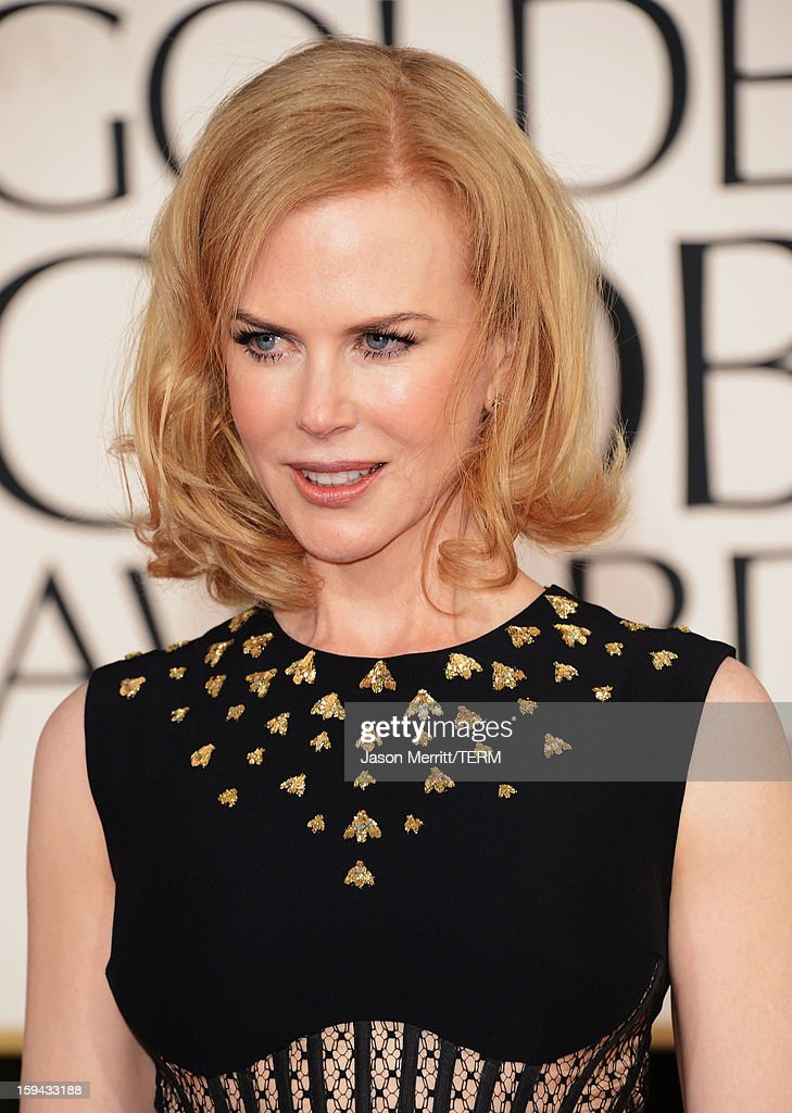 Actress Nicole Kidman arrives at the 70th Annual Golden Globe Awards held at The Beverly Hilton Hotel on January 13, 2013 in Beverly Hills, California.