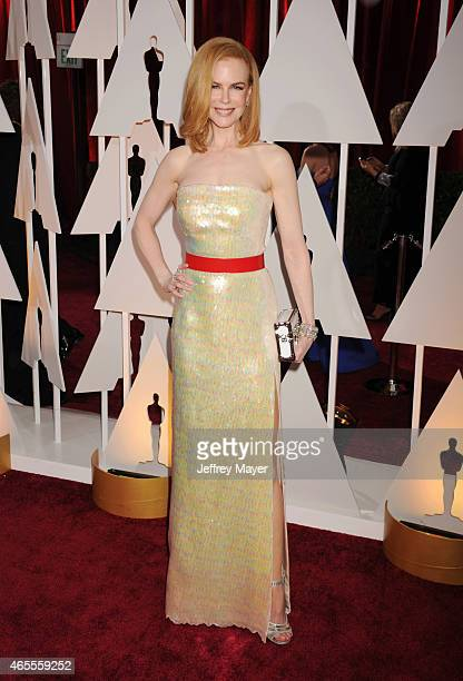 Actress Nicole Kidman arrives at the 87th Annual Academy Awards at Hollywood Highland Center on February 22 2015 in Hollywood California