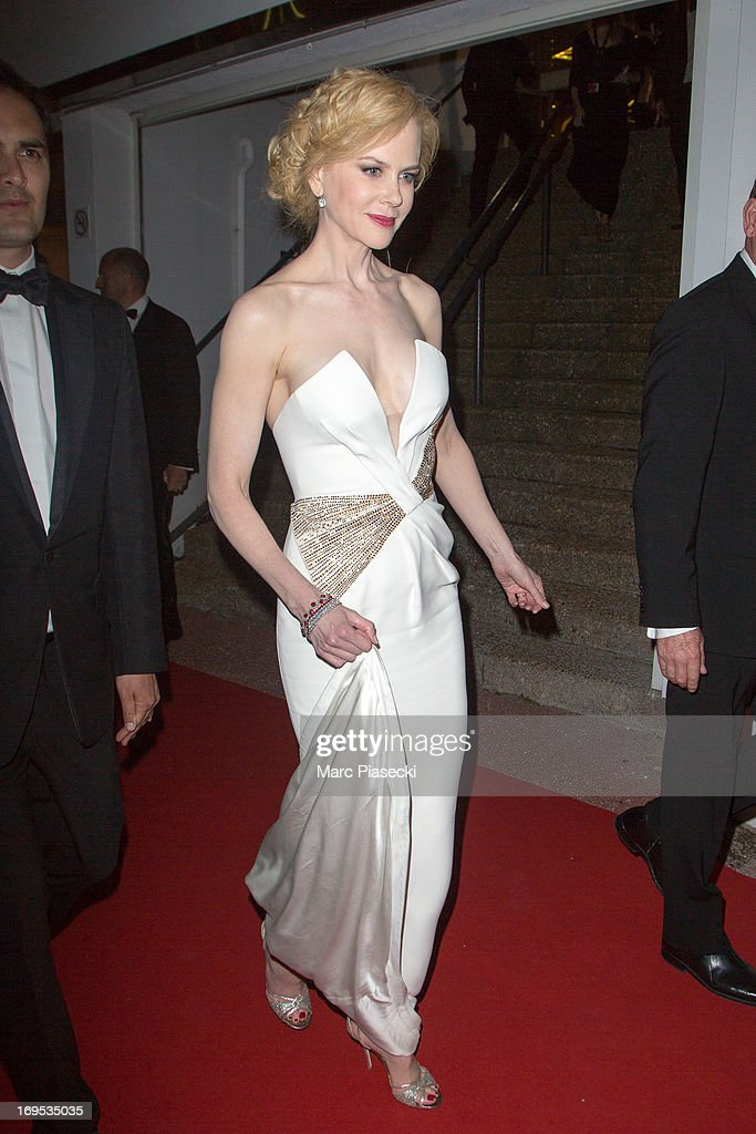 Actress Nicole Kidman arrives at the 'Agora' dinner during the 66th Annual Cannes Film Festival on May 26, 2013 in Cannes, France.
