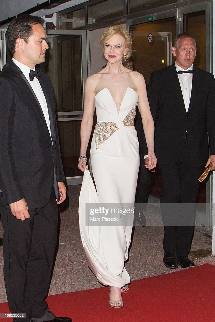 Actress <a gi-track='captionPersonalityLinkClicked' href=/galleries/search?phrase=Nicole+Kidman&family=editorial&specificpeople=156404 ng-click='$event.stopPropagation()'>Nicole Kidman</a> arrives at the 'Agora' dinner during the 66th Annual Cannes Film Festival on May 26, 2013 in Cannes, France.