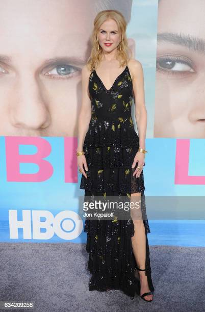 Actress Nicole Kidman arrives at the Los Angeles premiere 'Big Little Lies' at TCL Chinese Theatre on February 7 2017 in Hollywood California