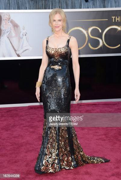 Actress Nicole Kidman arrives at the Oscars at Hollywood Highland Center on February 24 2013 in Hollywood California
