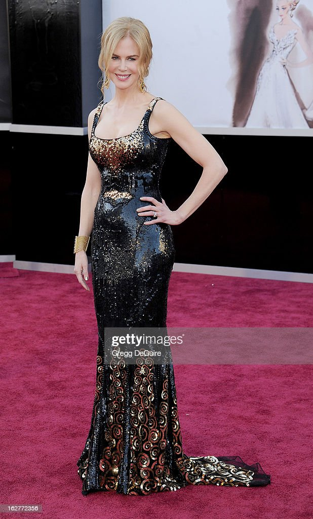Actress <a gi-track='captionPersonalityLinkClicked' href=/galleries/search?phrase=Nicole+Kidman&family=editorial&specificpeople=156404 ng-click='$event.stopPropagation()'>Nicole Kidman</a> arrives at the Oscars at Hollywood & Highland Center on February 24, 2013 in Hollywood, California.