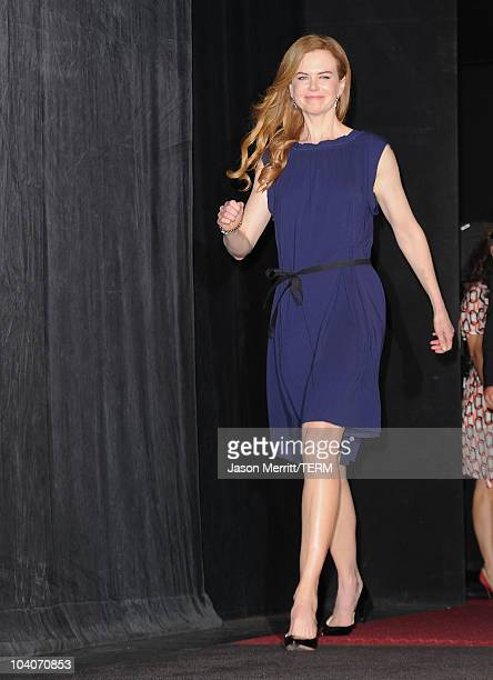Actress Nicole Kidman arrives at the 'Rabbit Hole' Premiere held at The Elgin during the 35th Toronto International Film Festival on September 13...