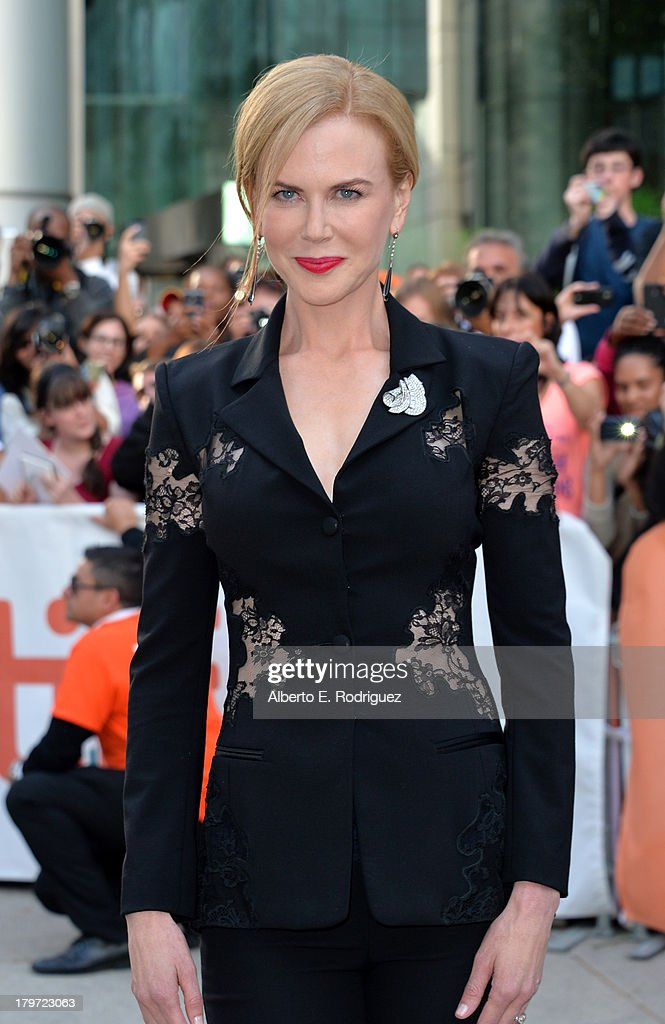 Actress <a gi-track='captionPersonalityLinkClicked' href=/galleries/search?phrase=Nicole+Kidman&family=editorial&specificpeople=156404 ng-click='$event.stopPropagation()'>Nicole Kidman</a> arrives at 'The Railway Man' Premiere during the 2013 Toronto International Film Festival at Roy Thomson Hall on September 6, 2013 in Toronto, Canada.