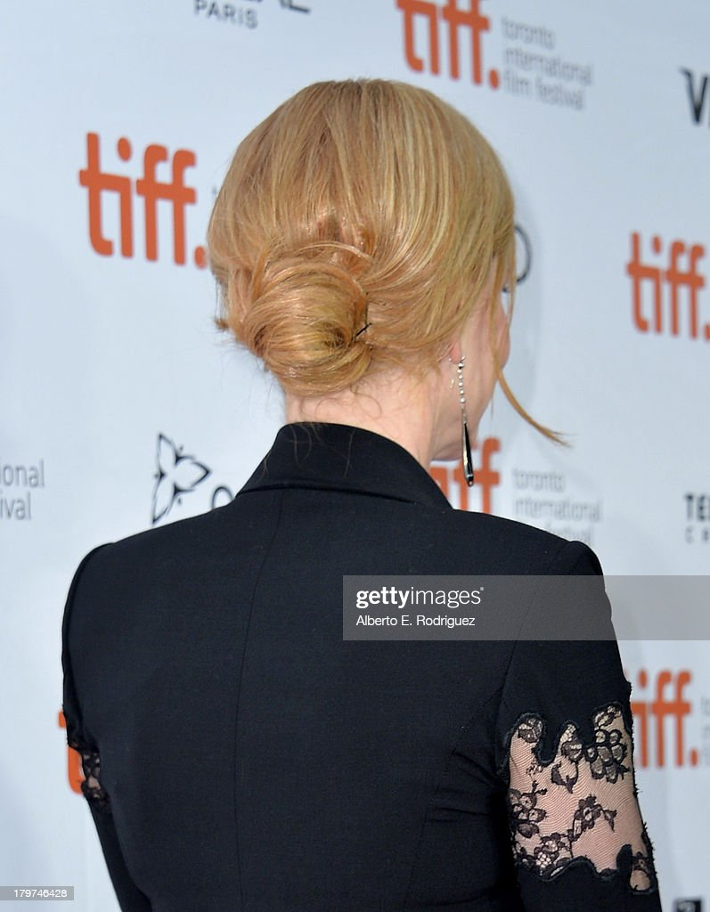 Actress Nicole Kidman (hair detail) arrives at 'The Railway Man' Premiere during the 2013 Toronto International Film Festival at Roy Thomson Hall on September 6, 2013 in Toronto, Canada.