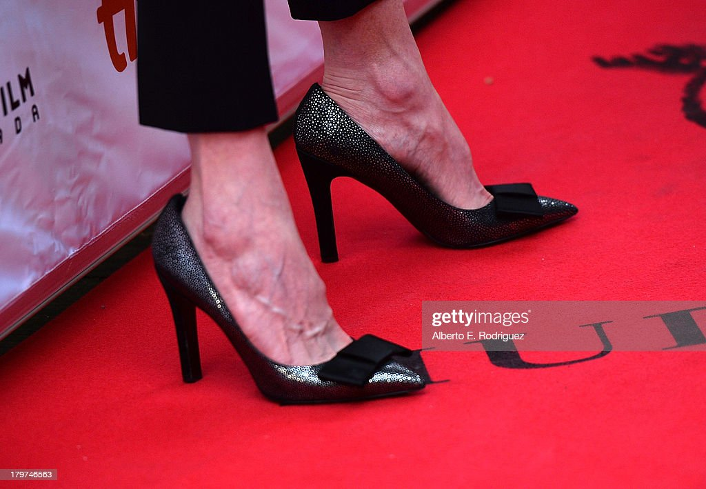 Actress Nicole Kidman (shoe detail) arrives at 'The Railway Man' Premiere during the 2013 Toronto International Film Festival at Roy Thomson Hall on September 6, 2013 in Toronto, Canada.