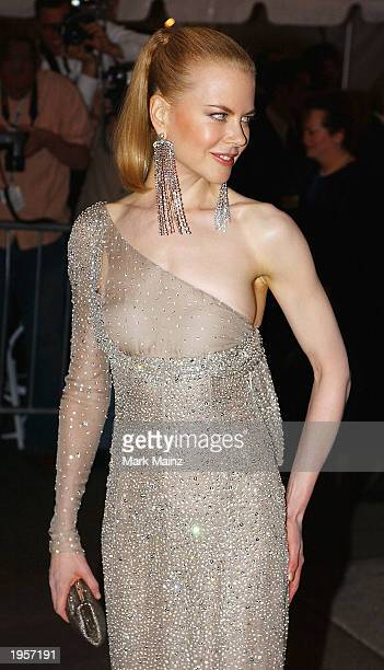 Actress Nicole Kidman arrives for 'Goddess Costume Institute Benefit Gala' at the Metropolitan Museum of Art April 28 2003 in New York City