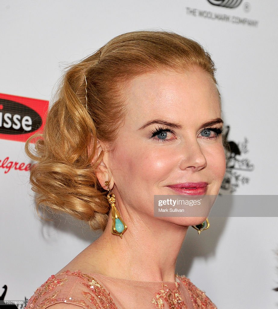 Actress <a gi-track='captionPersonalityLinkClicked' href=/galleries/search?phrase=Nicole+Kidman&family=editorial&specificpeople=156404 ng-click='$event.stopPropagation()'>Nicole Kidman</a> arrives for the G'Day USA Black Tie Gala held at at the JW Marriot at LA Live on January 12, 2013 in Los Angeles, California.