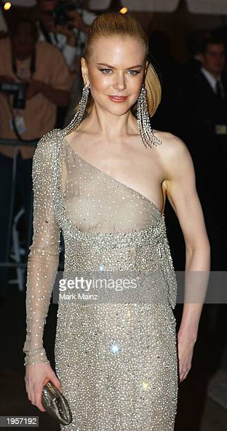 Actress Nicole Kidman arrives for the 'Goddess Costume Institute Benefit Gala' at the Metropolitan Museum of Art April 28 2003 in New York City