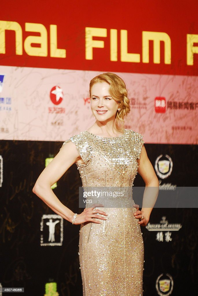 Actress <a gi-track='captionPersonalityLinkClicked' href=/galleries/search?phrase=Nicole+Kidman&family=editorial&specificpeople=156404 ng-click='$event.stopPropagation()'>Nicole Kidman</a> arrives for the red carpet of the 17th Shanghai International Film Festival at Shanghai Grand Theatre on June 14, 2014 in Shanghai, China.