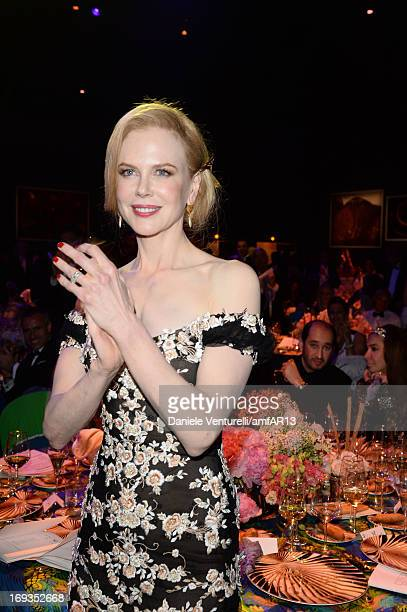 Actress Nicole Kidman attends amfAR's 20th Annual Cinema Against AIDS during The 66th Annual Cannes Film Festival at Hotel du CapEdenRoc on May 23...