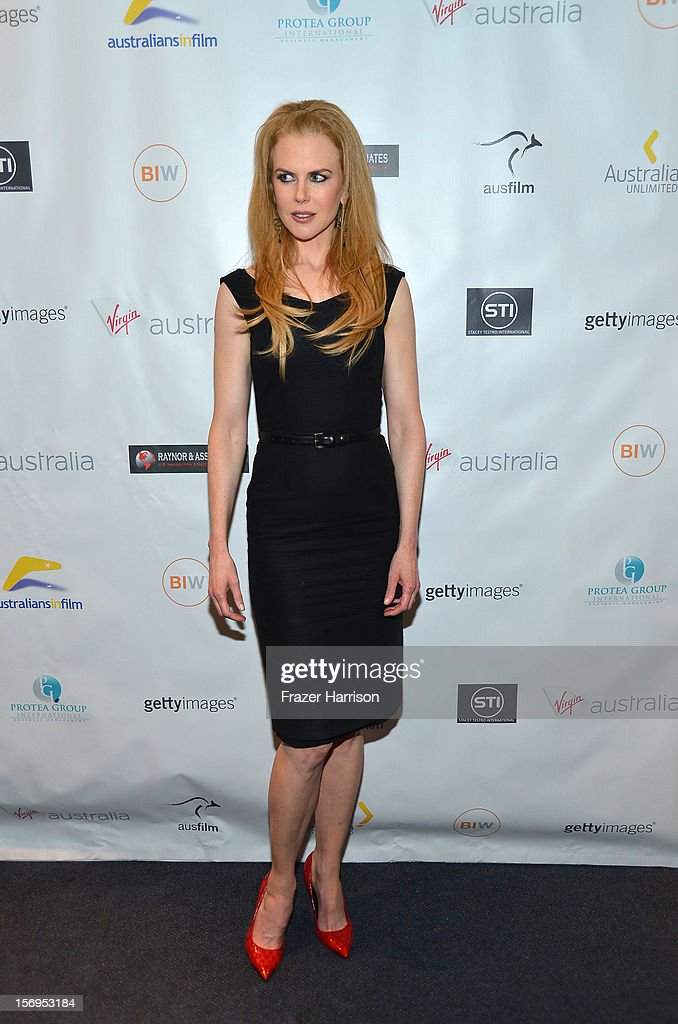 Actress <a gi-track='captionPersonalityLinkClicked' href=/galleries/search?phrase=Nicole+Kidman&family=editorial&specificpeople=156404 ng-click='$event.stopPropagation()'>Nicole Kidman</a> attends Australians In Film Screening of 'The Paperboy' at Harmony Gold Theatre on November 25, 2012 in Los Angeles, California.