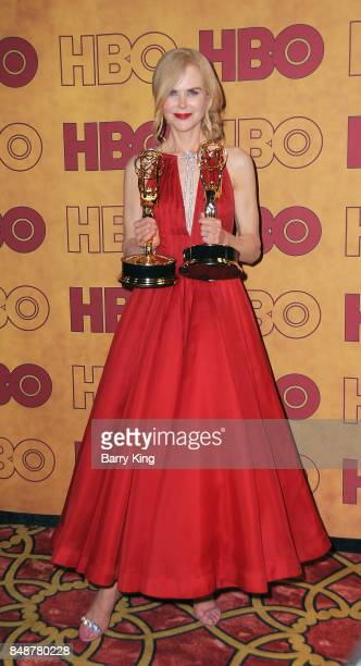 Actress Nicole Kidman attends HBO's Post Emmy Awards Reception at The Plaza at the Pacific Design Center on September 17 2017 in Los Angeles...