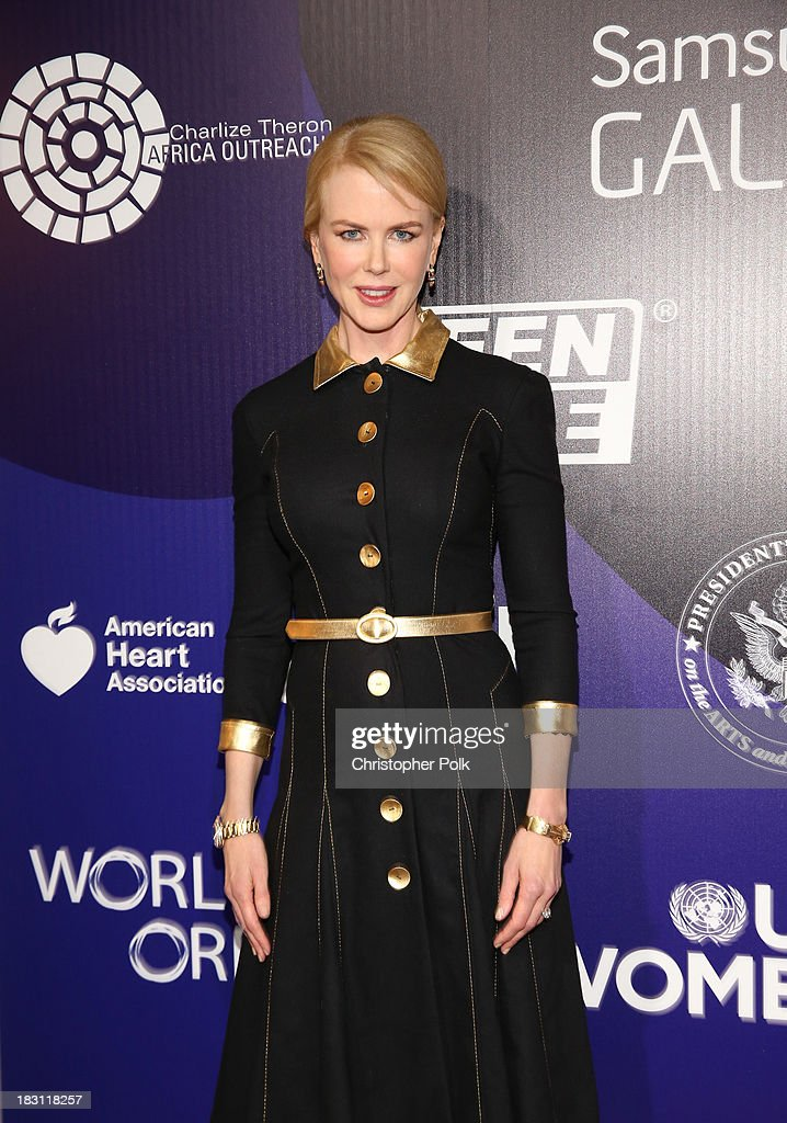 Actress <a gi-track='captionPersonalityLinkClicked' href=/galleries/search?phrase=Nicole+Kidman&family=editorial&specificpeople=156404 ng-click='$event.stopPropagation()'>Nicole Kidman</a> attends Samsung Galaxy at Variety's 5th Annual Power of Women event presented by Lifetime at the Beverly Wilshire Four Seasons Hotel on October 4, 2013 in Beverly Hills, California.