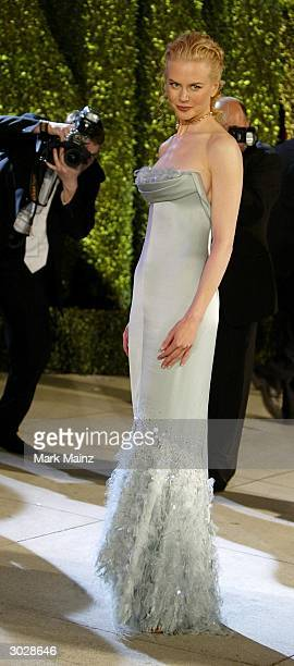 Actress Nicole Kidman attends The 2004 Vanity Fair Oscar Party at Mortons Restaurant February 29 2004 in Hollywood California