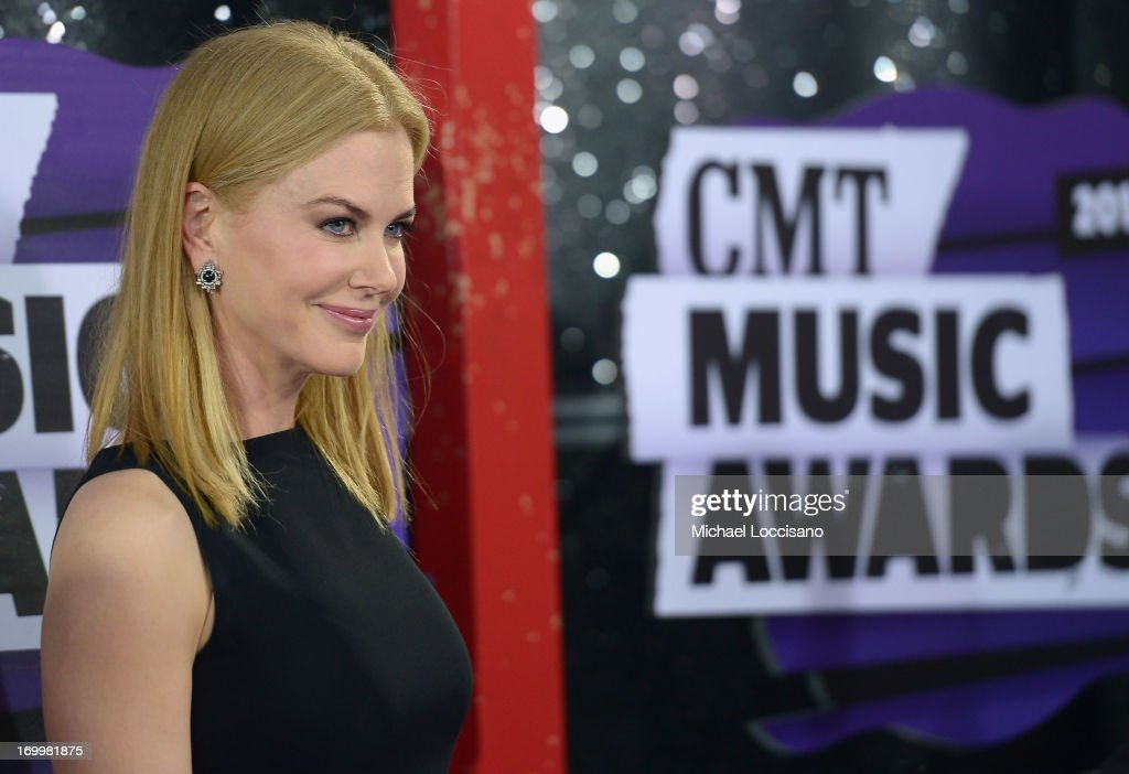 Actress <a gi-track='captionPersonalityLinkClicked' href=/galleries/search?phrase=Nicole+Kidman&family=editorial&specificpeople=156404 ng-click='$event.stopPropagation()'>Nicole Kidman</a> attends the 2013 CMT Music awards at the Bridgestone Arena on June 5, 2013 in Nashville, Tennessee.