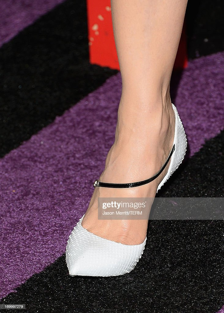 Actress Nicole Kidman (shoe detail) attends the 2013 CMT Music awards at the Bridgestone Arena on June 5, 2013 in Nashville, Tennessee.
