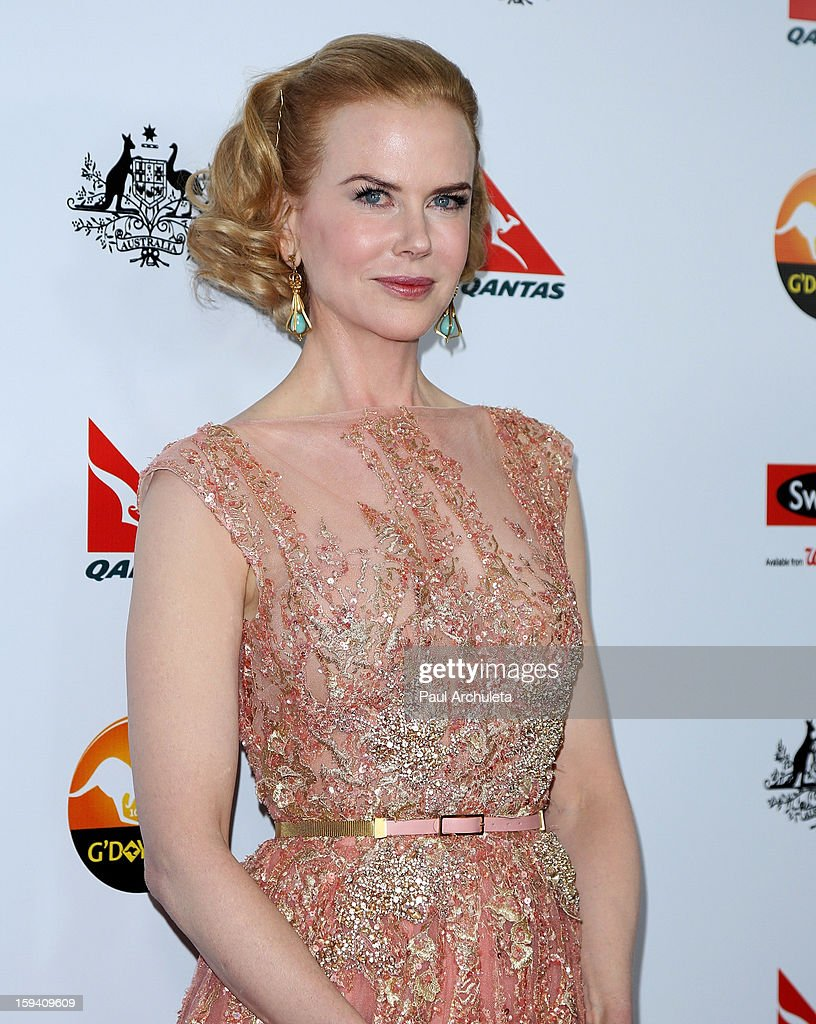 Actress <a gi-track='captionPersonalityLinkClicked' href=/galleries/search?phrase=Nicole+Kidman&family=editorial&specificpeople=156404 ng-click='$event.stopPropagation()'>Nicole Kidman</a> attends the 2013 G'Day USA Los Angeles Black Tie Gala at JW Marriott Los Angeles at L.A. LIVE on January 12, 2013 in Los Angeles, California.